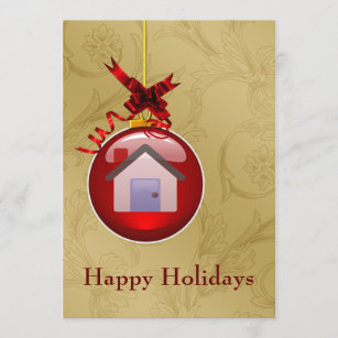 Real estate holiday cards greeting photo cards zazzle real estate holiday cards reheart Image collections