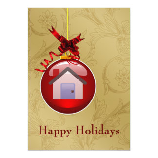"real estate  Holiday Cards 5"" X 7"" Invitation Card"