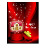 real estate Holiday Cards Postcard