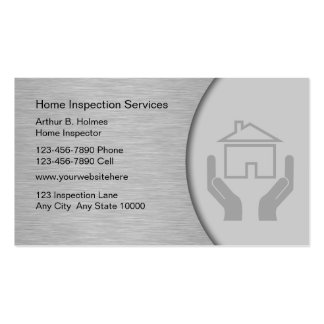 Real Estate Home Inspection Business Cards