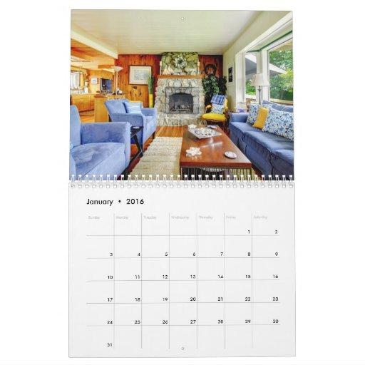Real Estate. Home interiors. Calendar. 2013 Calendar