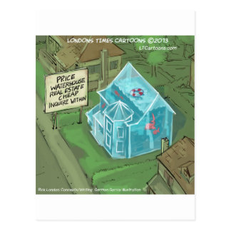 Real Estate Home Sales Nightmare Funny Post Card