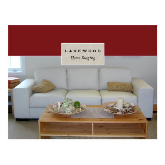 Real Estate Home Staging Postcard Sofa