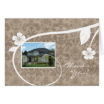 Real Estate Home Thank You Greeting Card Beige