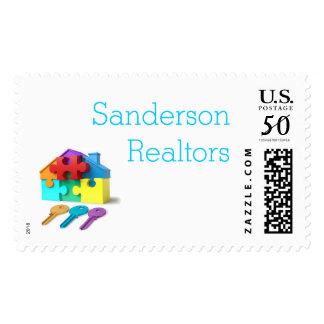 Real Estate, House and Keys, Realtor, estate agent Postage