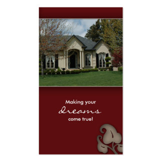 Real Estate House Business Card burgundy