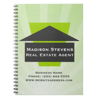 Real Estate House Logo Spiral Notebook