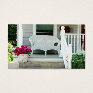 Real Estate House Porch Business Card