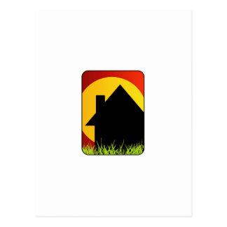 Real estate house postcard
