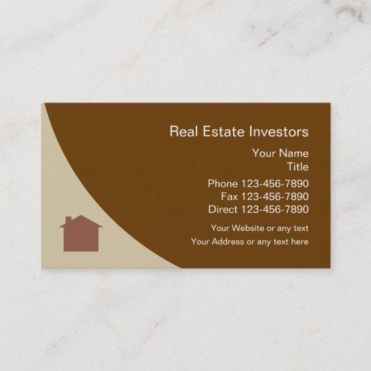 real estate investor business card - Real Estate Investor Business Cards