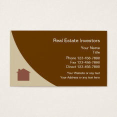 Real Estate Investor Business Card at Zazzle