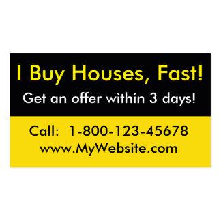 Real Estate Investor Business Card - I Buy Houses