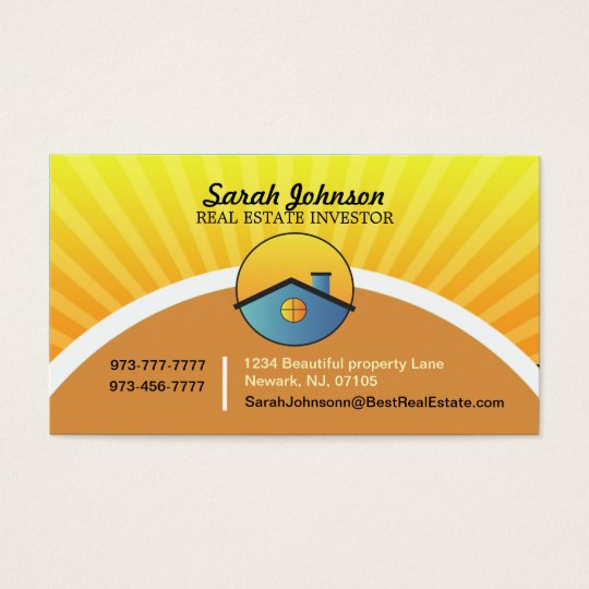 Real estate investor business card template zazzle real estate investor business card template reheart Choice Image