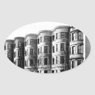 Real Estate Investor Buy the Whole Neighborhood Oval Sticker