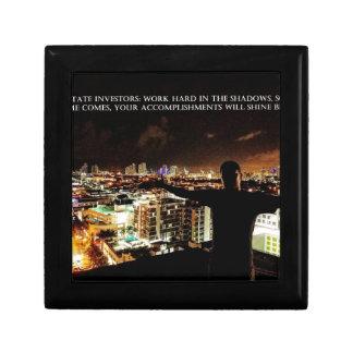 Real Estate Investor Print - Work Hard Shadows Keepsake Box