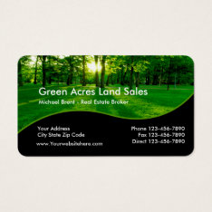 Real Estate Land Sales Business Card at Zazzle