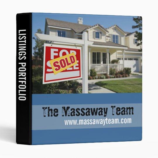Real Estate Listings Portfolio Binder