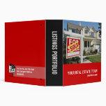 Real Estate Listings Portfolio Vinyl Binder
