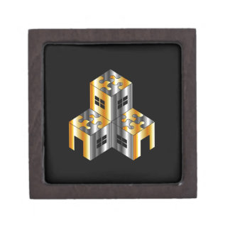 real estate market with puzzle roof keepsake box
