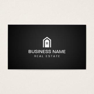 Real Estate Modern Home Logo Dark Minimalist Business Card