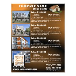 Real Estate – Modern QR code flyer – Brown QR455
