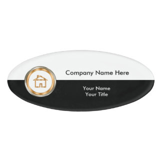 Real Estate Office Staff Name Tag