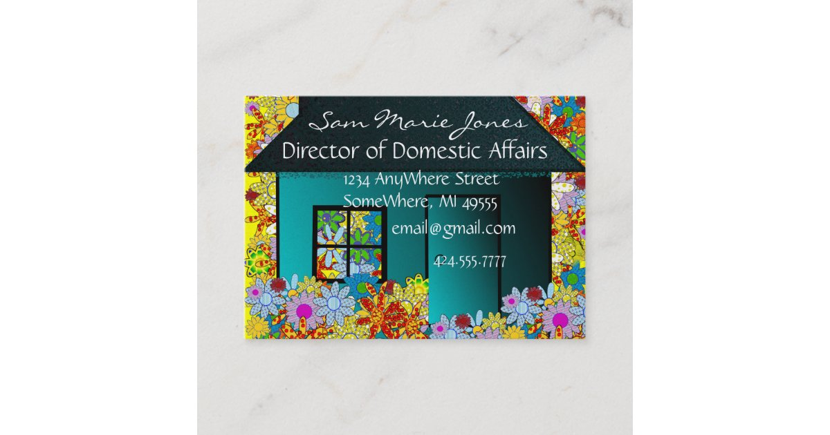 Real Estate Or Stay At Home Mom Business Card Zazzle Com