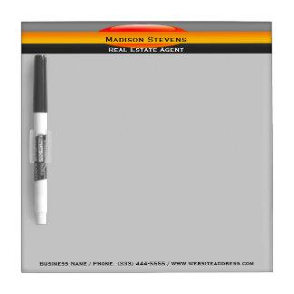 Real Estate Orange Circle Dry Erase Board