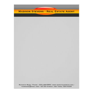 Real Estate Orange Circle Letterhead