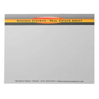 Real Estate Orange Circle Notepad