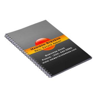 Real Estate Orange Circle Spiral Notebook
