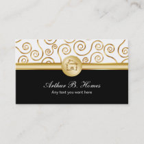 Real Estate Pattern Business Card