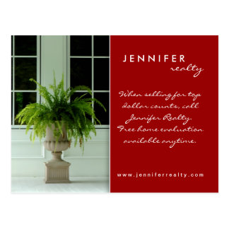 Real Estate Postcards Green Fern House Red