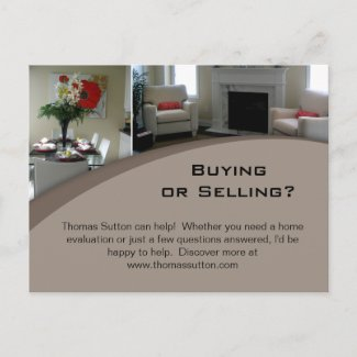 Real Estate Postcards Interior 1 postcard
