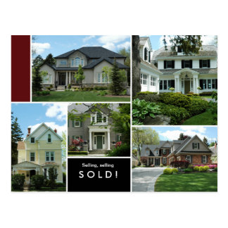 Real Estate Postcards Many Homes Houses