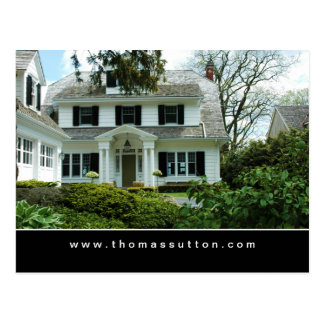 Real Estate Postcards White Formal House