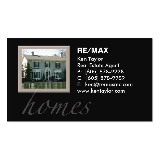 Real Estate Pretty House Business Card