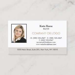 Real estate business cards zazzle real estate professional add photo and logo business card colourmoves