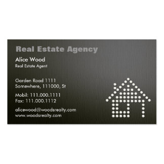 Real Estate | Professional Dark Business Card