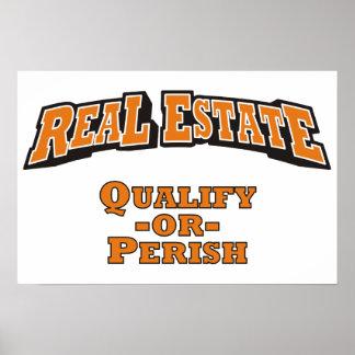 Real Estate - Qualify or Perish Print