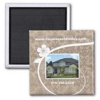 Real Estate / Realtor Custom Fridge Magnet Beige