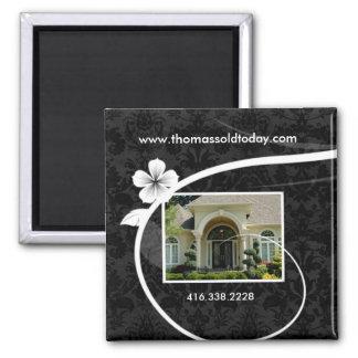 Real Estate / Realtor Custom Fridge Magnet Floral