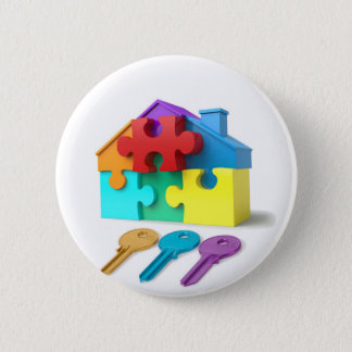 Real Estate, Realtor, estate agent, New Home Pinback Button