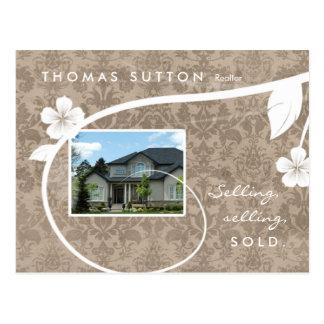 Real Estate Realtor Postcard Customizable Beige