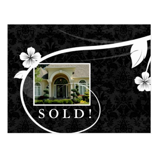 Real Estate / Realtor Postcard Customizable Black