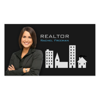 Real Estate Realtor Property Manager Building City Double-Sided Standard Business Cards (Pack Of 100)