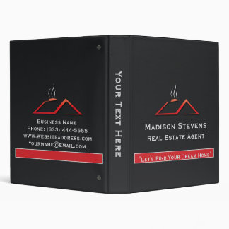 "Real Estate Red Rooftop Binder 1"""