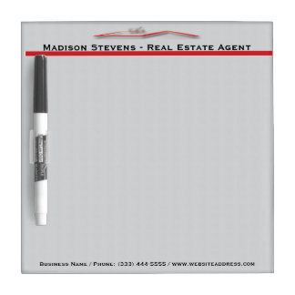 Real Estate Red Rooftop Dry Erase Board