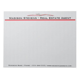 Real Estate Red Rooftop Notepad