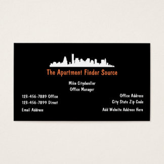 Real Estate Rental Agent Business Card